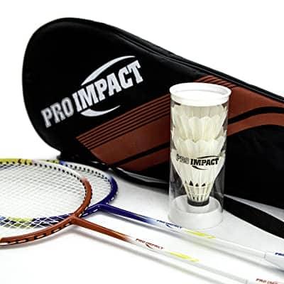 Pro Impact Badminton Set Aluminum Head w-Steel Shaft