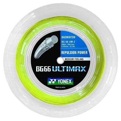 YONEX BG66 Ultimax Badminton String - 200m Reel