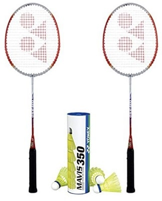 Yonex B 350 2 rackets M350 YM Shuttlecock Badminton Combo Set